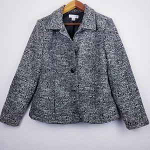 Christopher & Banks tweed blazer Large